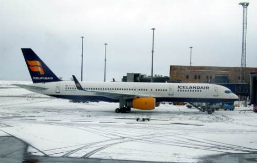 Icelandair at Wintertime