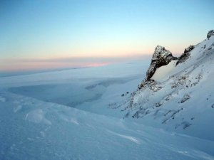 Langjokull at wintertime