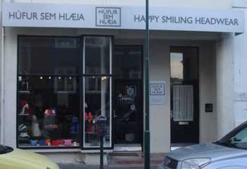 Icelandic clothing design Happy smiling headwear