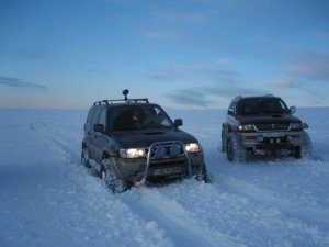 Icelandic 4x4 at wintertime